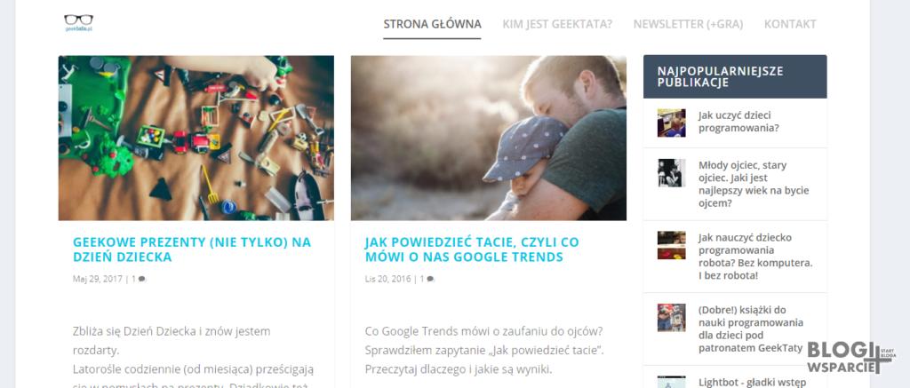 Geek Tata - blog parentingowy oczami ojca, taty z Białegostoku