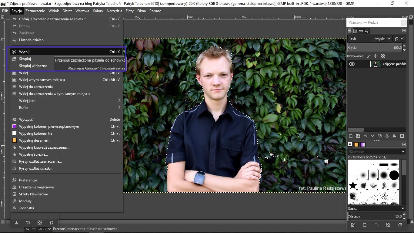 fot. Patryk Tarachoń - GIMP