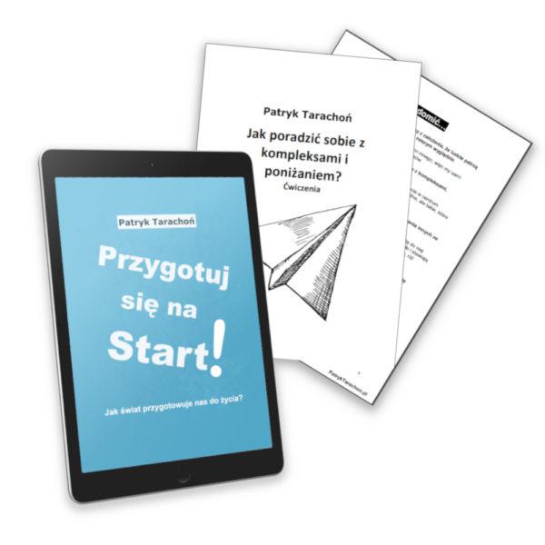"""Zestaw obejmuje e-book z ćwiczeniami: ,,Przygotuj się na Start + Ćwiczenia na poniżanie i kompleksy""""!"""